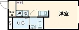 m-sation 2階ワンルームの間取り
