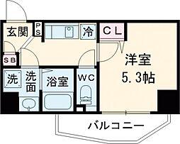 レオンコンフォート池田山 2階1Kの間取り