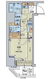 JR山手線 五反田駅 徒歩7分の賃貸マンション 7階1Kの間取り