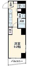 名古屋市営鶴舞線 塩釜口駅 徒歩5分の賃貸マンション 10階1Kの間取り