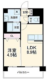福岡市地下鉄七隈線 桜坂駅 徒歩25分の賃貸マンション 3階1LDKの間取り