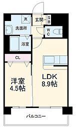 福岡市地下鉄七隈線 桜坂駅 徒歩25分の賃貸マンション 7階1LDKの間取り