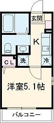 多摩都市モノレール 大塚・帝京大学駅 徒歩6分の賃貸アパート 1階1Kの間取り