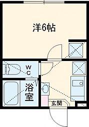 JR南武線 府中本町駅 徒歩7分の賃貸アパート 2階1Kの間取り