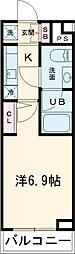 京急本線 立会川駅 徒歩5分の賃貸マンション 1階1Kの間取り