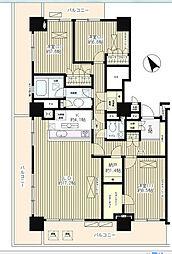 JR山手線 新宿駅 徒歩15分の賃貸マンション 19階3LDKの間取り