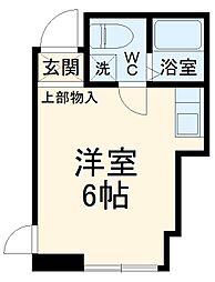 JR横浜線 古淵駅 徒歩12分の賃貸アパート 2階ワンルームの間取り