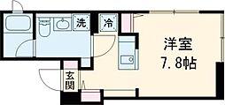 FARE桜新町V 2階ワンルームの間取り