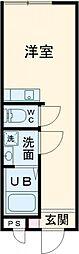 東京メトロ千代田線 北千住駅 徒歩8分の賃貸アパート 3階ワンルームの間取り