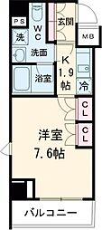 JR山手線 巣鴨駅 徒歩5分の賃貸マンション 7階1Kの間取り