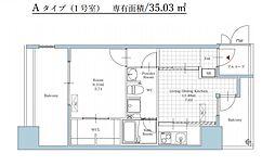 福岡市地下鉄空港線 大濠公園駅 徒歩5分の賃貸マンション 2階1DKの間取り