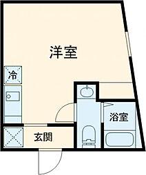 (仮称)赤塚2丁目新 1階ワンルームの間取り