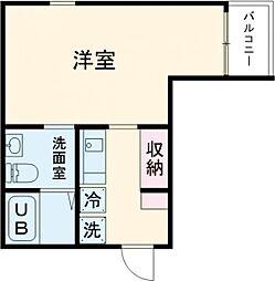 (仮称)赤塚2丁目新 2階1Kの間取り