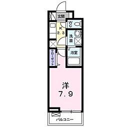 JR常磐線 水戸駅 バス12分 大工町3丁目下車 徒歩1分の賃貸アパート 3階1Kの間取り