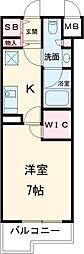 小田急小田原線 梅ヶ丘駅 徒歩6分の賃貸マンション 3階1Kの間取り