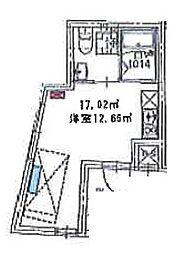 プレミア中野野方 2階ワンルームの間取り