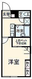 JR両毛線 新前橋駅 徒歩23分の賃貸アパート 2階1Kの間取り