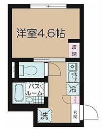 フェリーチェ富士見台A 1階1Kの間取り
