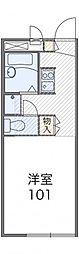JR高崎線 吹上駅 徒歩5分の賃貸アパート 2階1Kの間取り