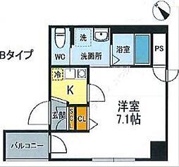JR山手線 西日暮里駅 徒歩12分の賃貸マンション 4階1Kの間取り