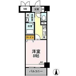 メゾン・ド・シルキー 3階1Kの間取り