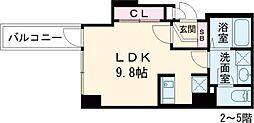 ルネサンスコート世田谷区役所前 4階ワンルームの間取り