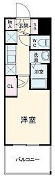 エステムコート名古屋黒川シャルマン 10階1Kの間取り