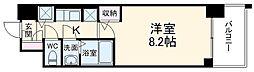 S-RESIDENCE黒川 11階1Kの間取り
