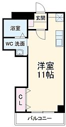 A・City三河安城南館 4階ワンルームの間取り