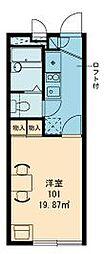 東武伊勢崎線 北春日部駅 徒歩19分の賃貸アパート 2階1Kの間取り