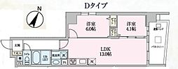 Luce 2階2LDKの間取り