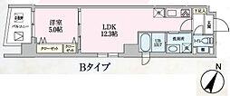 Luce 7階1LDKの間取り