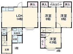 宮前町湯の花平貸家 1階3LDKの間取り