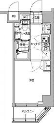 都営浅草線 中延駅 徒歩8分の賃貸マンション 6階1Kの間取り