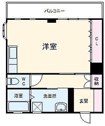 名鉄名古屋本線 国府駅 徒歩16分の賃貸アパート 1階ワンルームの間取り