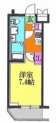 レオーネ亀有WEST 5階1Kの間取り
