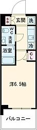 SHOKEN Residence亀有 5階1Kの間取り