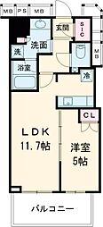 JR中央線 三鷹駅 徒歩3分の賃貸マンション 6階1LDKの間取り