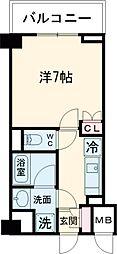 東急池上線 雪が谷大塚駅 徒歩5分の賃貸マンション 3階1Kの間取り