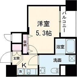 都営浅草線 戸越駅 徒歩3分の賃貸マンション 7階1Kの間取り