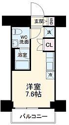 クラリッサ横浜フロード 9階ワンルームの間取り