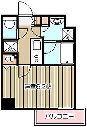 JR中央線 立川駅 徒歩6分の賃貸マンション 9階1Kの間取り