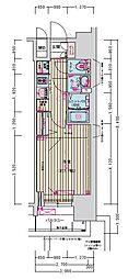 名古屋市営名城線 東別院駅 徒歩2分の賃貸マンション 12階1Kの間取り