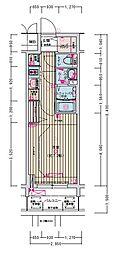 名古屋市営名城線 東別院駅 徒歩2分の賃貸マンション 3階1Kの間取り