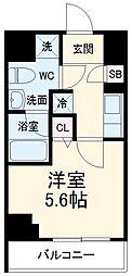 京急本線 京急川崎駅 徒歩6分の賃貸マンション 7階1Kの間取り