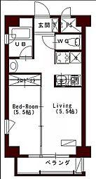 JR予讃線 高松駅 徒歩7分の賃貸マンション 3階1DKの間取り