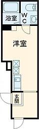 シュレーヴオオツカ 3階ワンルームの間取り