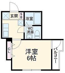 東武伊勢崎線 春日部駅 徒歩3分の賃貸アパート 1階1Kの間取り
