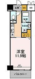 JR東海道本線 豊橋駅 徒歩13分の賃貸マンション 8階1Kの間取り