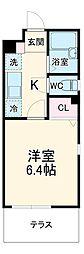 阪急京都本線 桂駅 徒歩7分の賃貸アパート 1階1Kの間取り